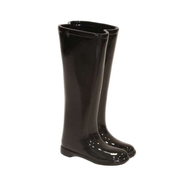 BLACK BOOTS UMBRELLA STAND OR VASE Thumbnail