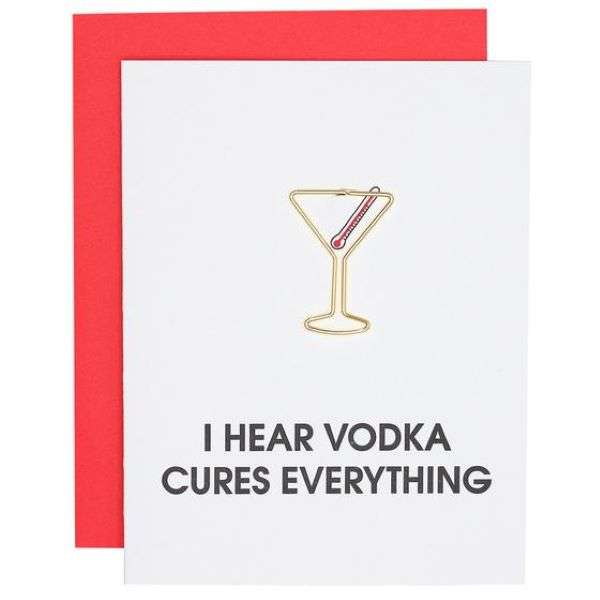 I HEAR VODKA CURES EVERYTHING CARD Thumbnail