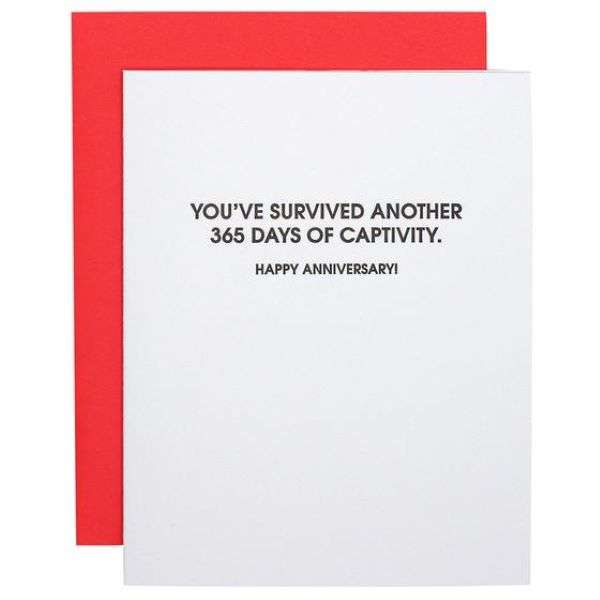 YOU SURVIVED ANOTHER 365 DAYS IN CAPTIVITY CARD Thumbnail