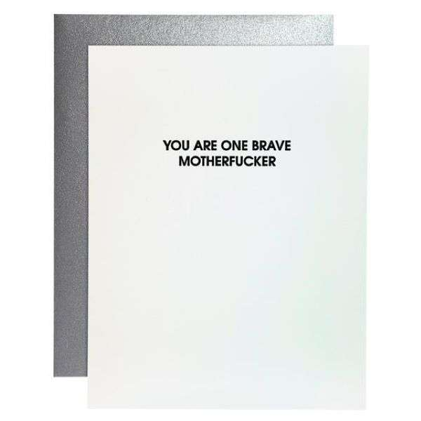 YOU ARE ONE BRAVE MOTHERFUCKER CARD Thumbnail