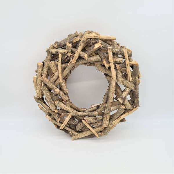 NATURAL BIRCH WREATH 16