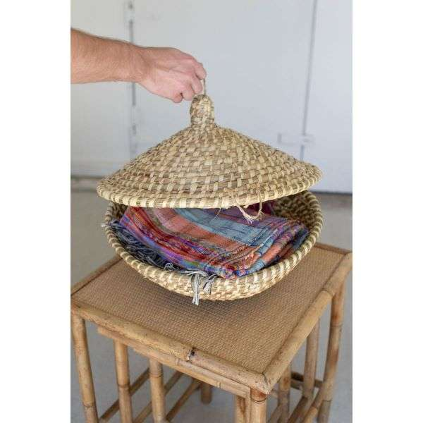 SEAGRASS BASKET WITH LID  Thumbnail