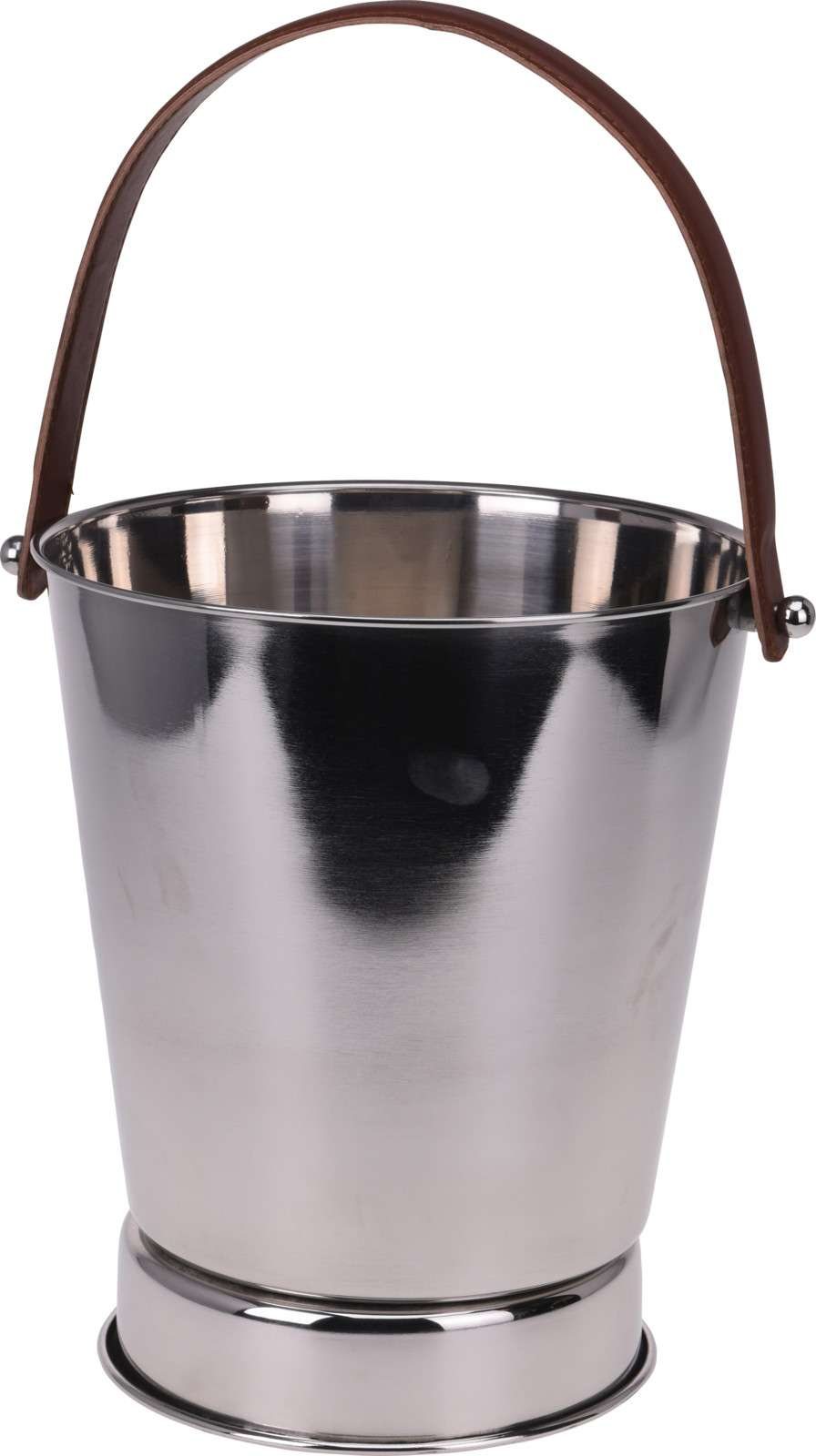 CHAMPAGNE/WINE COOLER W/ LEATHER HANDLES Thumbnail