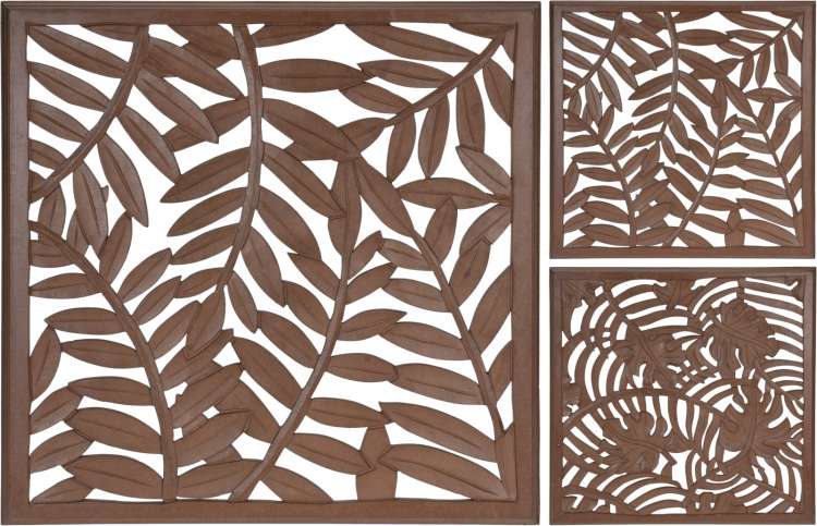LEAF WALL DECOR MANGO WOOD  Thumbnail