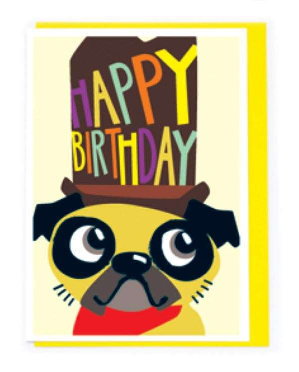 HAPPY BIRTHDAY DOG WITH HAT CARD Thumbnail