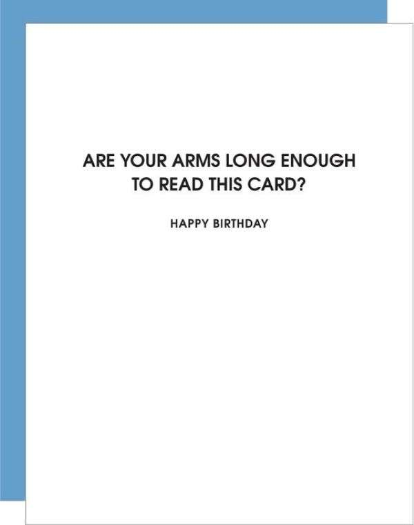 ARE YOUR ARMS LONG ENOUGH TO READ THIS CARD Thumbnail