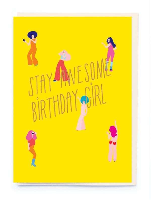 STAY AWESOME BIRTHDAY GIRL CARD Thumbnail