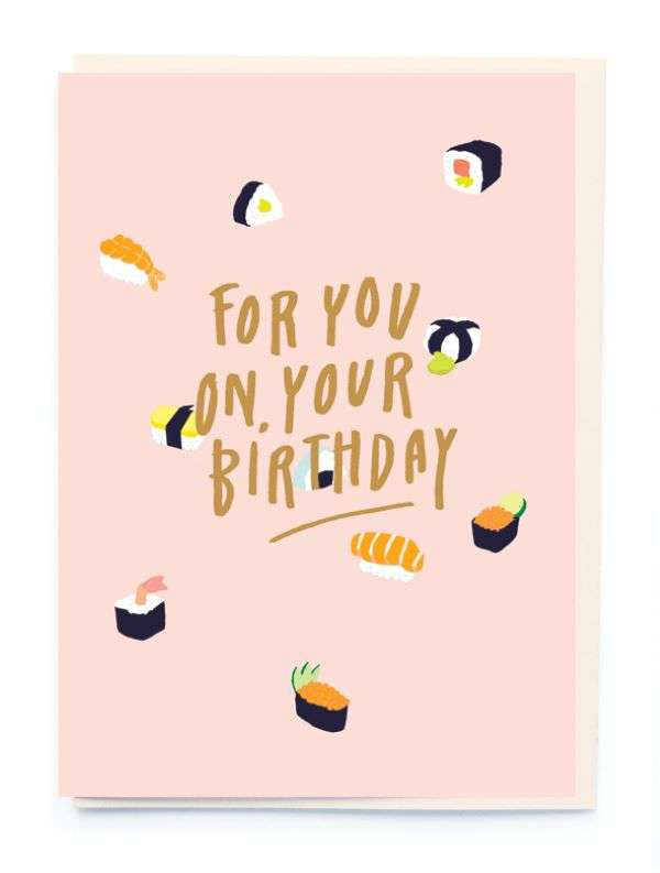 FOR YOU ON YOUR BIRTHDAY (SUSHI) CARD Thumbnail
