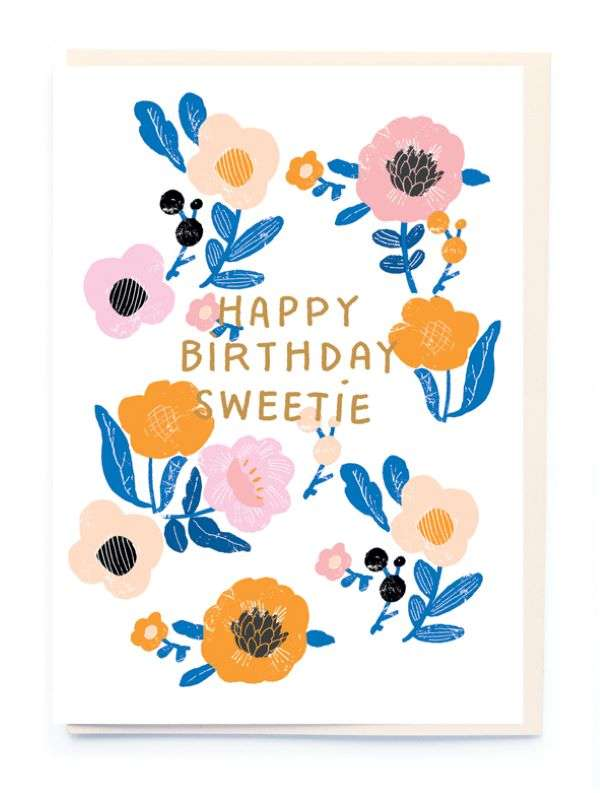 HAPPY BIRTHDAY SWEETIE CARD Thumbnail