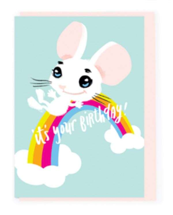 IT'S YOUR BIRTHDAY (RAINBOW MOUSE) CARD Thumbnail