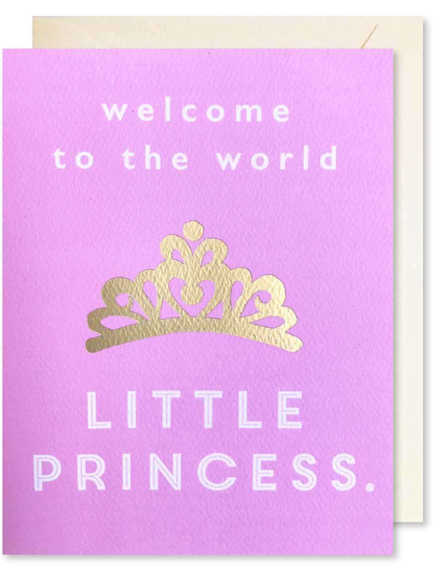 WELCOME TO THE WORLD LITTLE PRINCESS CARD Thumbnail