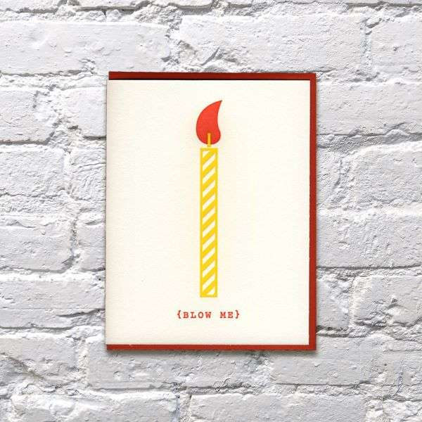BLOW ME CANDLE CARD Thumbnail