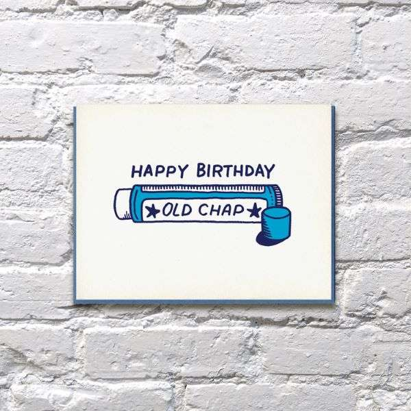 HAPPY BIRTHDAY OLD CHAP CARD Thumbnail