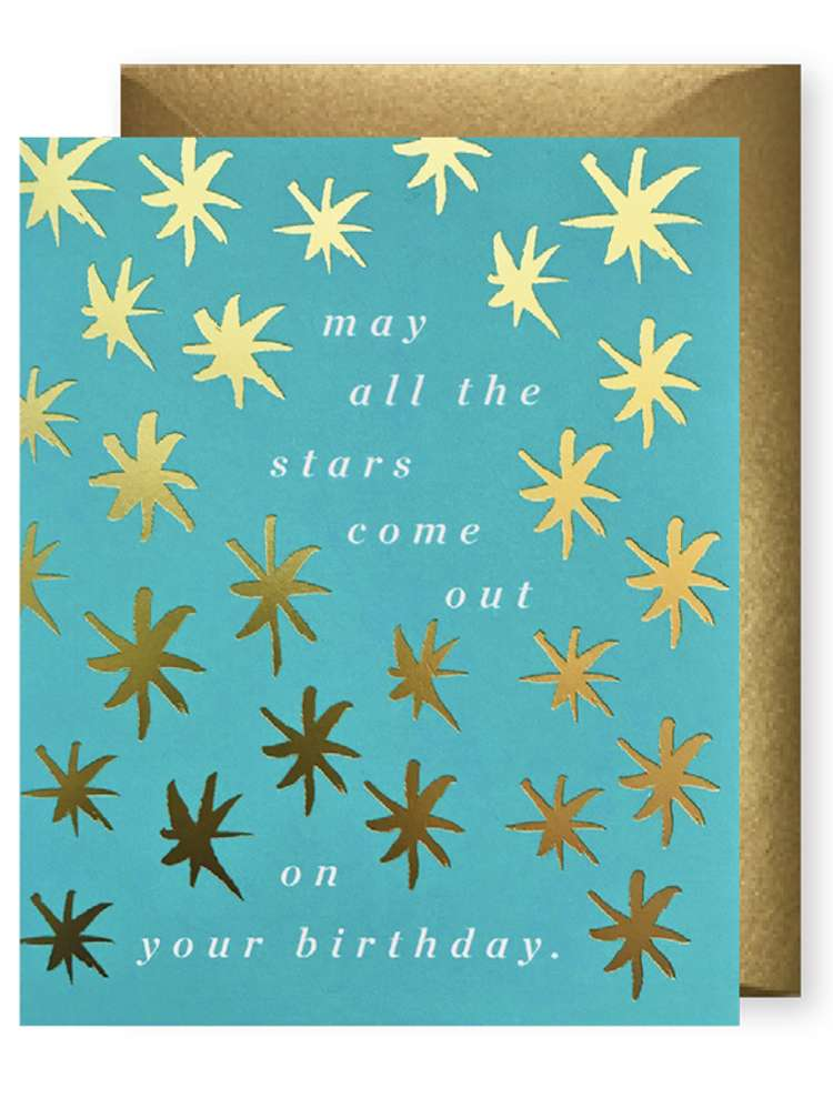 MAY ALL THE STARS COME OUT ON YOUR BIRTHDAY CARD Thumbnail