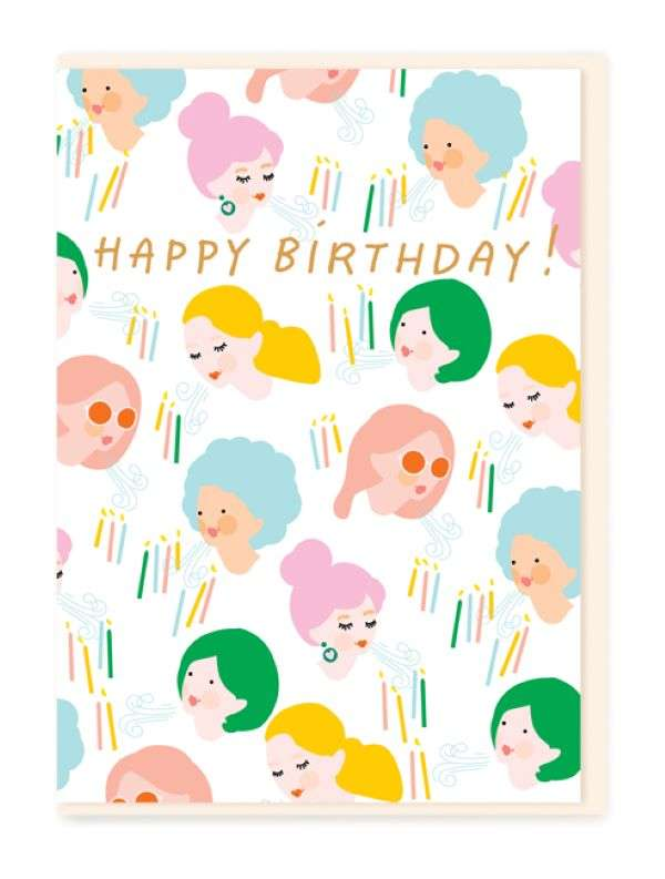 HAPPY BIRTHDAY BLOW CANDLES CARD Thumbnail