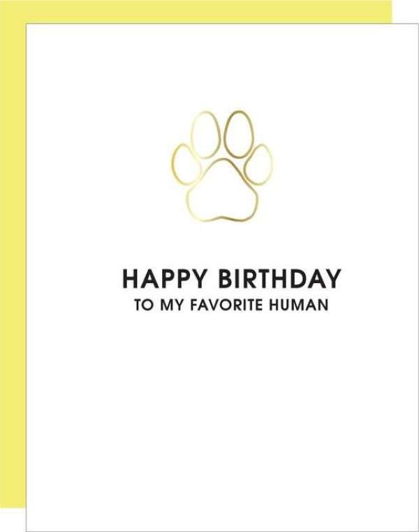 HAPPY BIRTHDAY TO MY FAVORITE HUMAN CARD Thumbnail