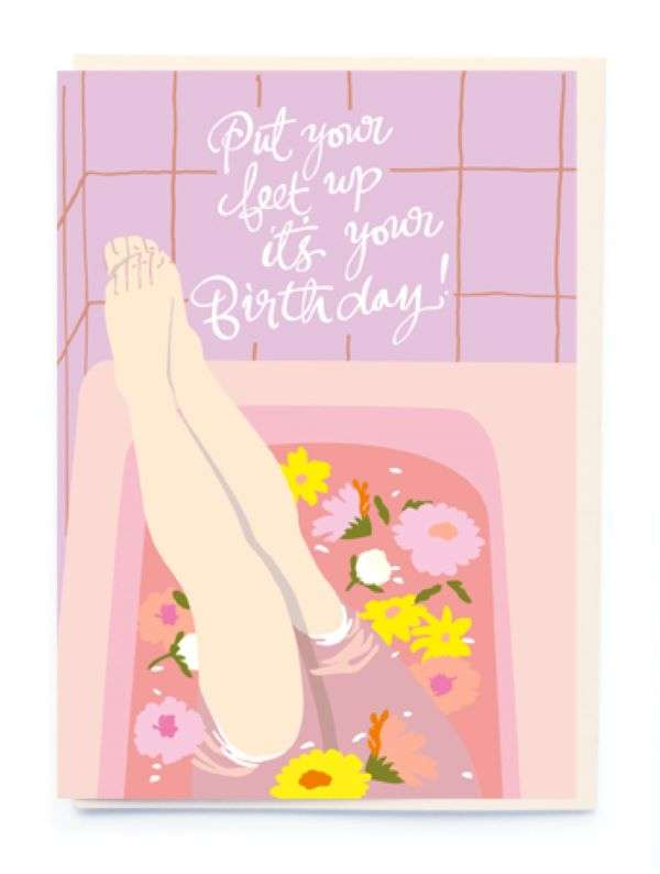PUT YOUR FEET UP IT'S YOUR BIRTHDAY CARD Thumbnail
