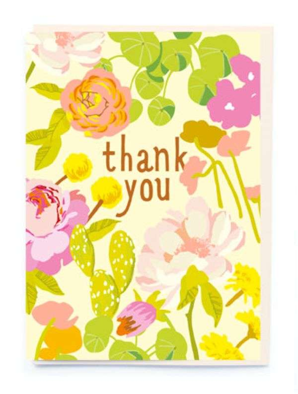 THANK YOU CARD FLOWERS Thumbnail
