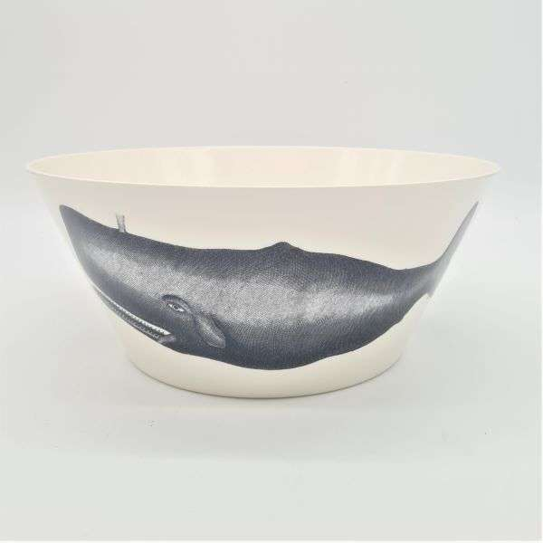 LARGE SERVING BOWL SCRIMESHAW SEA THEME Thumbnail