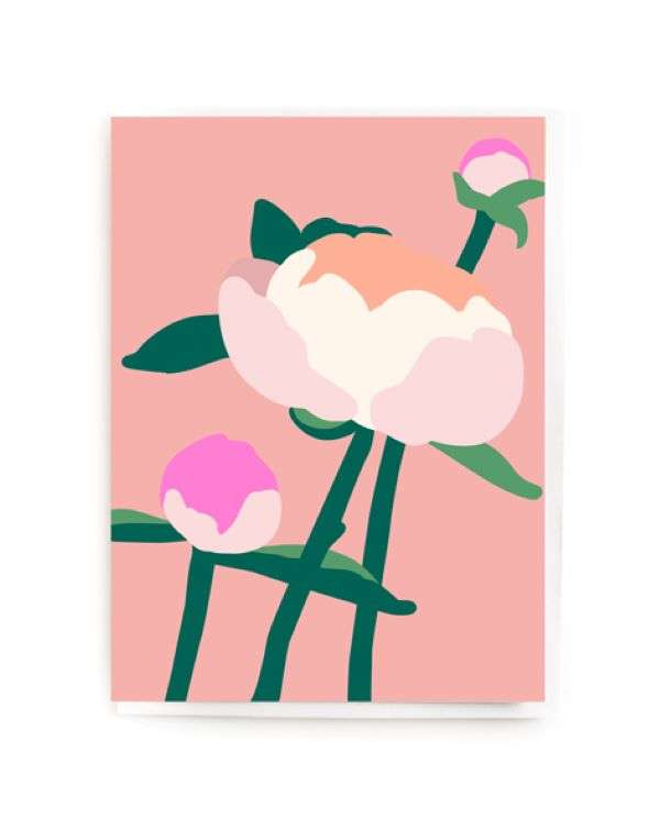 PEONY FLOWER CARD Thumbnail