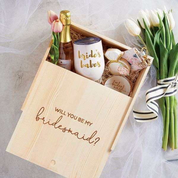 WOOD GIFT BOX - WILL YOU BE MY BRIDES MAID? Thumbnail