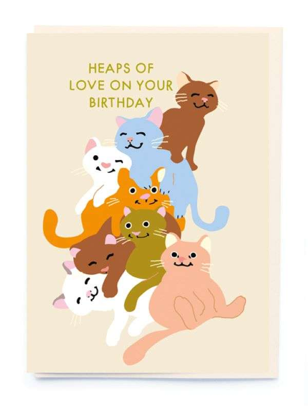 HEAPS OF LOVE ON YOUR BIRTHDAY CARD Thumbnail