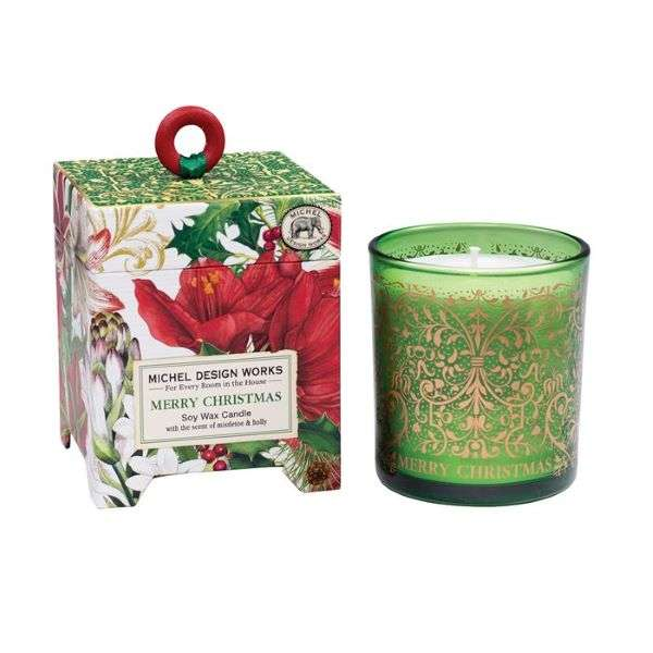 MERRY CHRISTMAS SOY CANDLE 6.5 oz.  Thumbnail