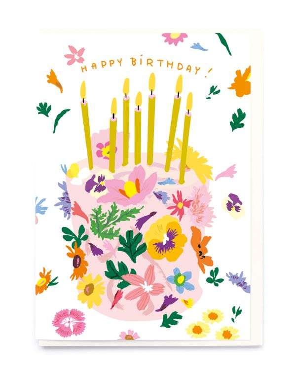 HAPPY BIRTHDAY FLOWERS/CAKE CARD Thumbnail