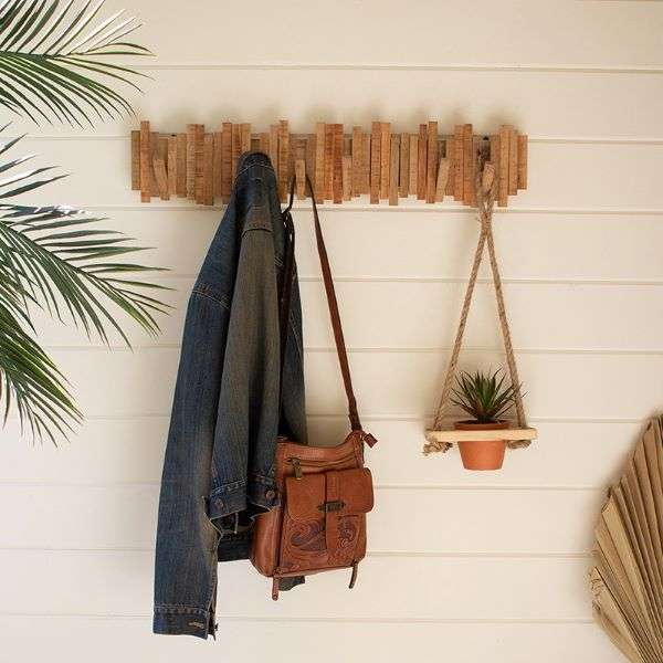 RECYCLED WOOD COAT RACK  Thumbnail