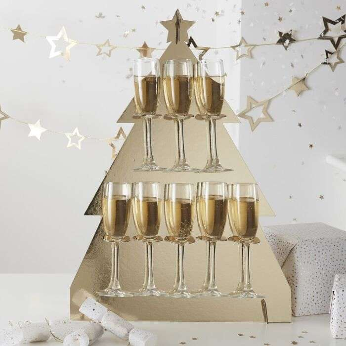 CHRISTMAS TREE PROSECCO GLASSES DRINK STAND   Thumbnail