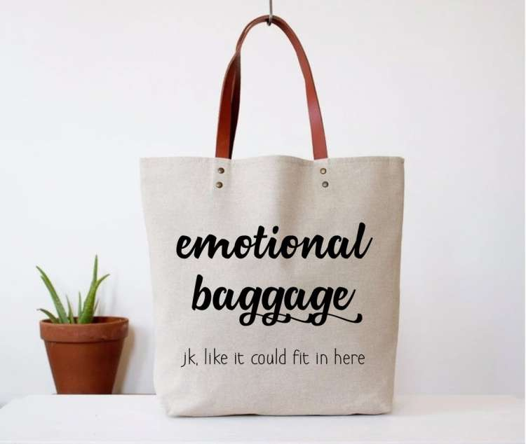 EMOTIONAL BAGGAGE TOTE BAG Thumbnail