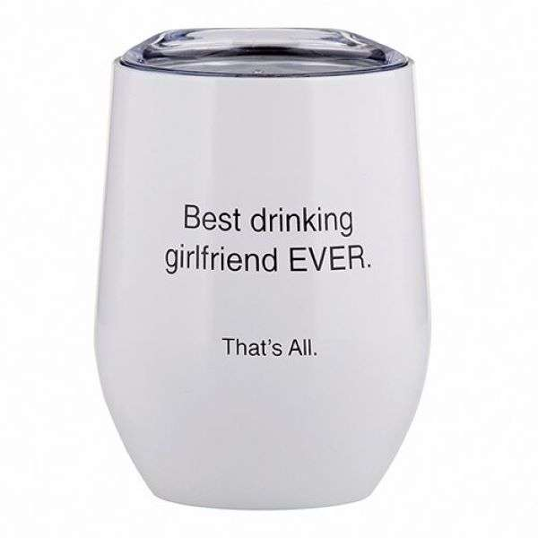 BEST DRINKING GIRLFRIEND TUMBLER 12OZ  Thumbnail