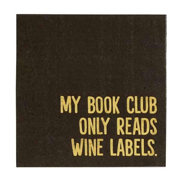 MY BOOK CLUB READS WINE LABELS COCKTAIL NAPKINS Thumbnail