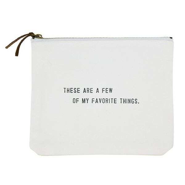 FAVORITE THINGS CANVAS POUCH  Thumbnail