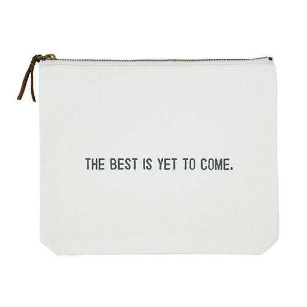 THE BEST IS YET TO COME CANVAS POUCH Thumbnail