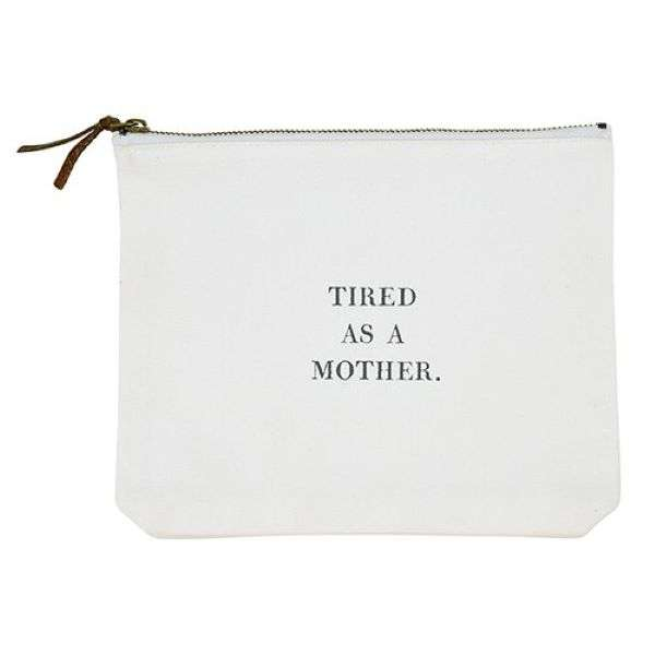 TIRED AS A MOTHER CANVAS POUCH Thumbnail