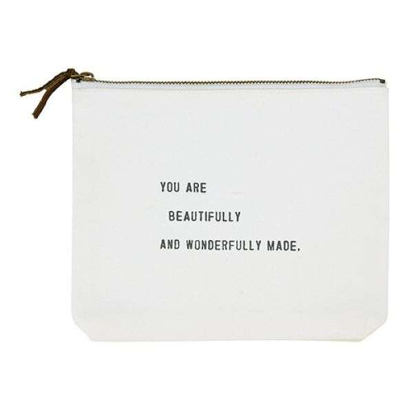 YOU ARE BEAUTIFULLY AND WONDERFULLY MADE CANVAS POUCH  Thumbnail