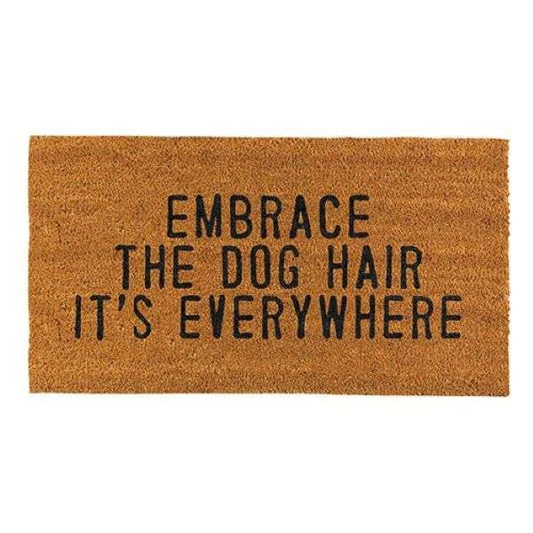 EMBRACE THE DOG HAIR DOOR MAT Thumbnail