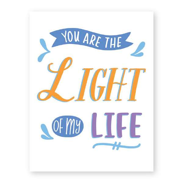 YOU ARE THE LIGHT OF MY LIFE CARD Thumbnail