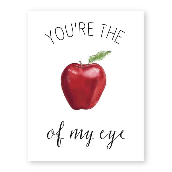 YOU'RE THE APPLE OF MY EYE CARD Thumbnail