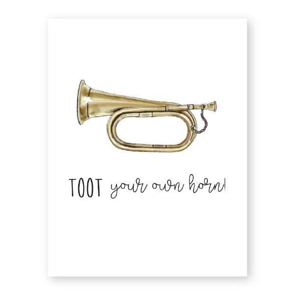 TOOT YOUR OWN HORN CARD Thumbnail