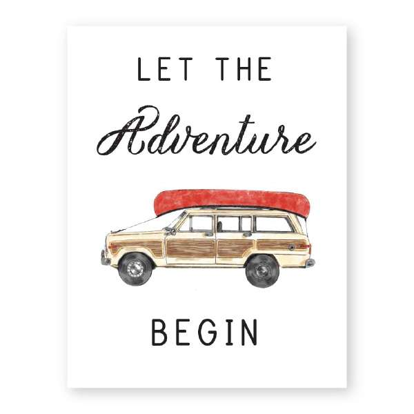 LET THE ADVENTURE BEGIN CARD Thumbnail