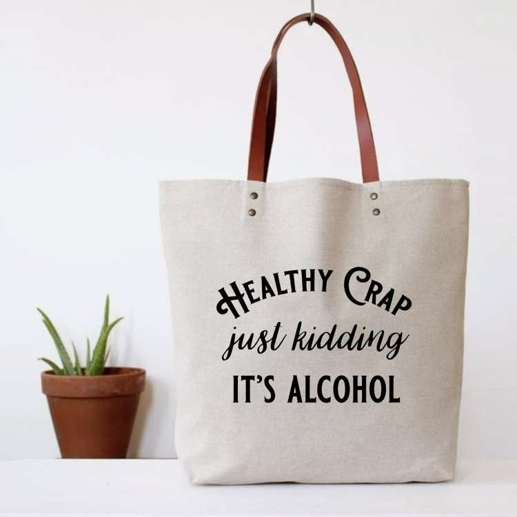 HEALTHY CRAP TOTE BAG Thumbnail