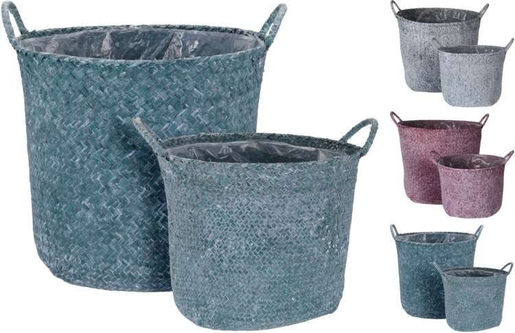 WILLOW PLANTER BASKETS SET/2 Thumbnail
