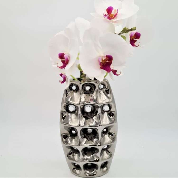 DIMPLED SILVER VASE  Thumbnail