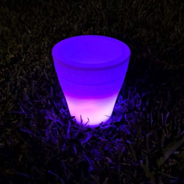POT WITH COLOR CHANGING LED LIGHTS Thumbnail