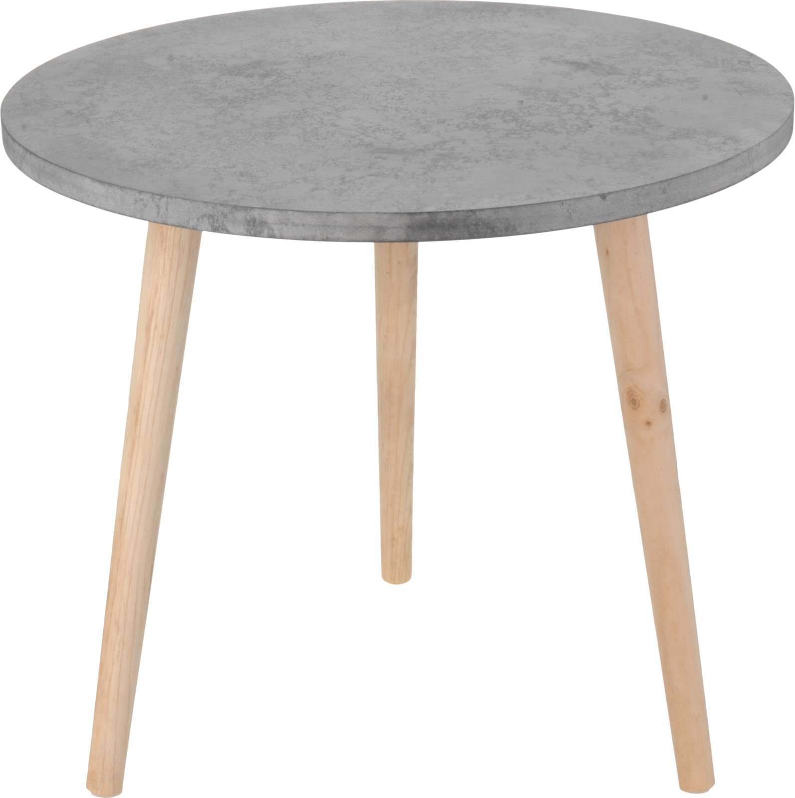 CEMENT LOOK WOOD SIDE TABLE  Thumbnail