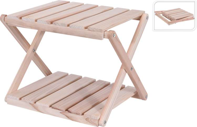 WOOD FOLDING SIDE TABLE  Thumbnail