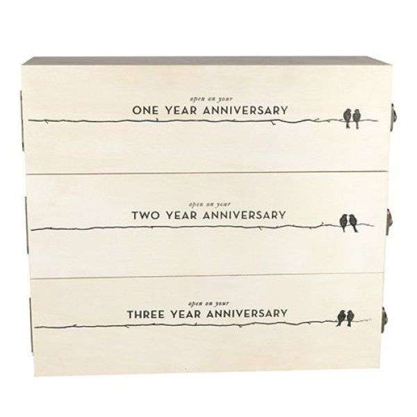 ANNIVERSARY WOODEN WINE BOX Thumbnail