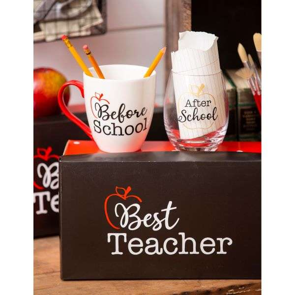 BEST TEACHER MUG & WINE GLASS SET Thumbnail